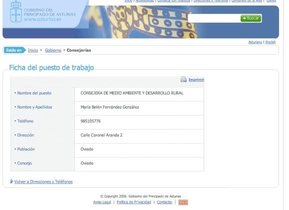 captura de imagen web Principado de Asturias