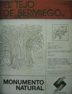 cartel tejo de Bermiego