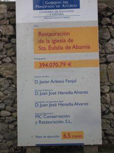 cartel obras Abamia