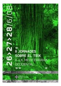 cartel II Jornadas sobre el tejo mediterráneo