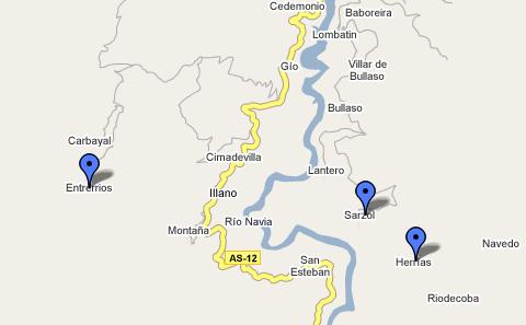 tejos de Illano en google maps