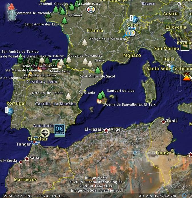 mapa general del itinerario