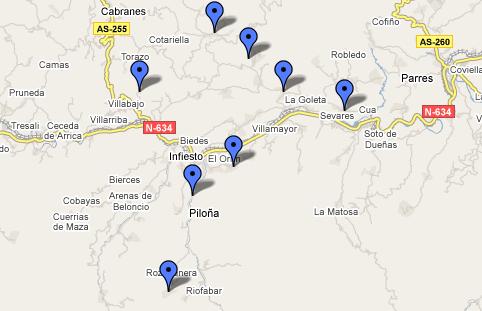 Piloña en maps