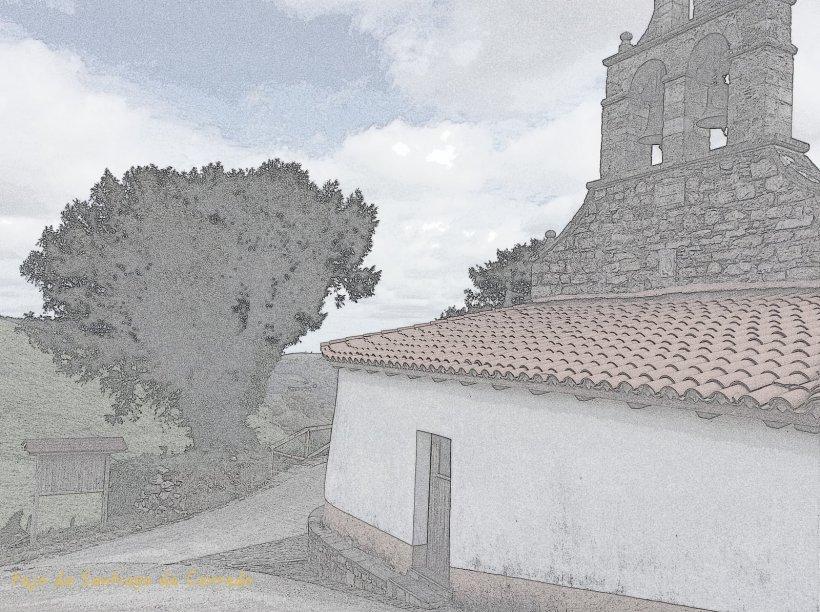 teja iglesia Santiago de Cerredo